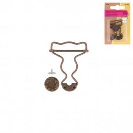 Boucles pour salopettes taille 25 mm - Bronze