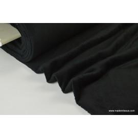 Tissu doudou double face noir