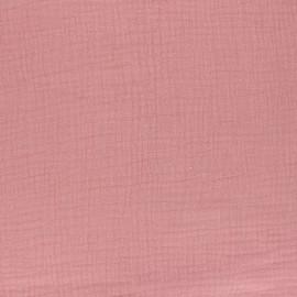 Tissu Double gaze coton Rose thé - oeko tex
