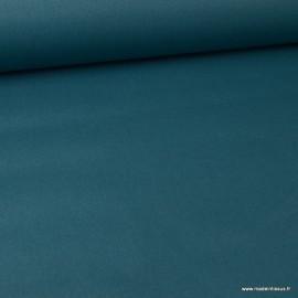 Tissu coton Enduit uni Paon -  Oeko tex