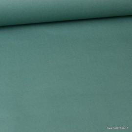 Tissu coton Enduit uni vert Thym-  Oeko tex