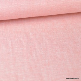 Tissu viscose Lin Rose - au mètre