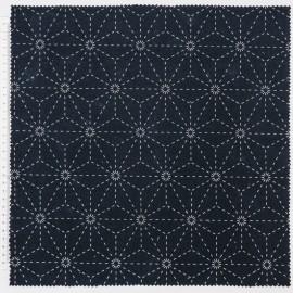 Tissu Sashiko en coton RICO design motifs étoiles