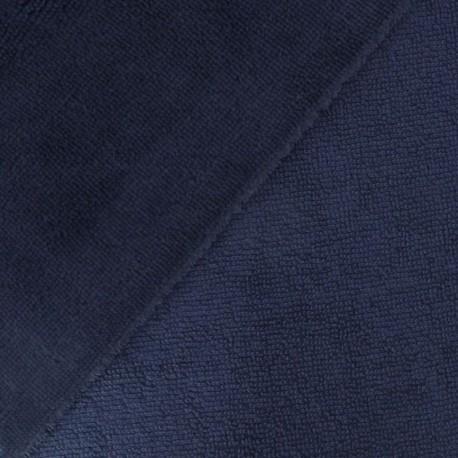 Tissu micro éponge de bambou Indigo - oeko tex