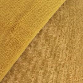Tissu micro éponge de bambou Moutarde - oeko tex