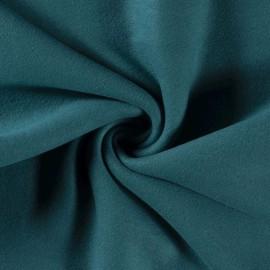 Tissu Polaire pur coton coloris Pétrole - Oeko tex