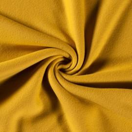 Tissu Polaire pur coton coloris Moutarde - Oeko tex
