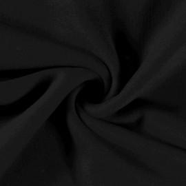 Tissu Polaire pur coton coloris Noir - Oeko tex