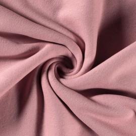 Tissu Polaire pur coton coloris Vieux rose - Oeko tex