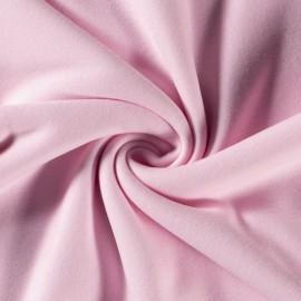 Tissu Polaire pur coton coloris rose - Oeko tex