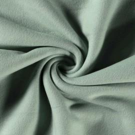 Tissu Polaire pur coton coloris Céladon - Oeko tex