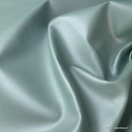 Tissu Simili cuir ameublement rigide Céladon