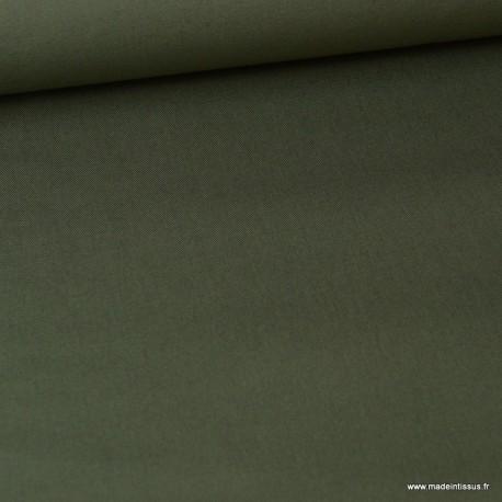 Tissu sergé coton lourd kaki 300gr/m²