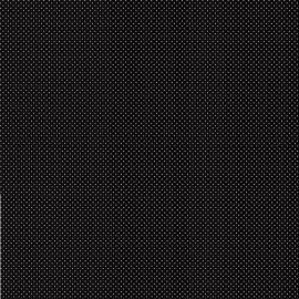 Tissu coton Enduit motifs Pois fond Noir -  Oeko tex