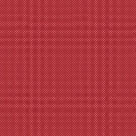 Tissu coton Enduit motifs Pois fond Rouge -  Oeko tex