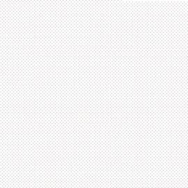Tissu coton Enduit motifs Pois gris fond blanc -  Oeko tex