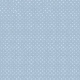 Tissu coton Enduit motifs Pois blanc fond bleu -  Oeko tex