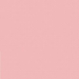 Tissu coton Enduit motifs Pois blanc fond Rose -  Oeko tex