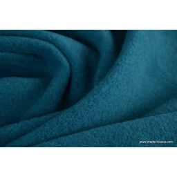 tissu polaire chiné haut de gamme coloris vert d'eau par 50cm
