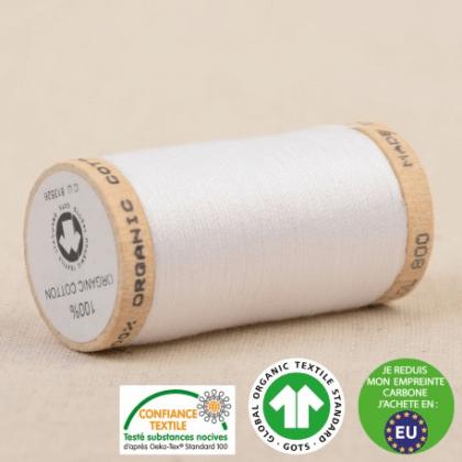 Fil à coudre Bio 100% coton - 275 m - Blanc
