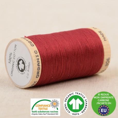 Fil à coudre Bio 100% coton - 275 m - Beaujolais