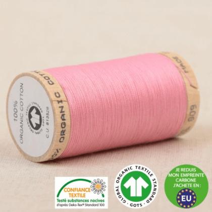 Fil à coudre Bio 100% coton - 275 m - Rose Layette