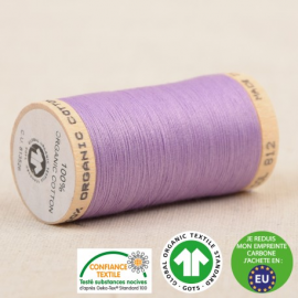 Fil à coudre Bio 100% coton - 275 m - Lilas