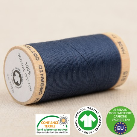 Fil à coudre Bio 100% coton - 275 m - Bleu marine