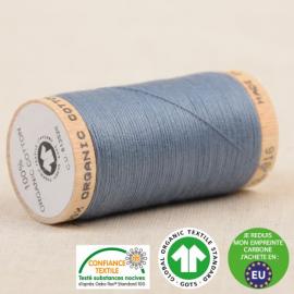Fil à coudre Bio 100% coton - 275 m - Bleu minéral