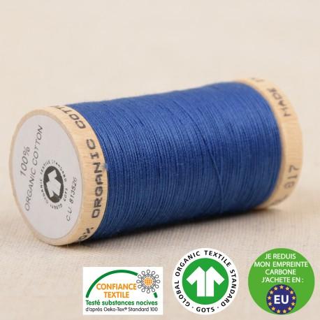 Fil à coudre Bio 100% coton - 275 m - Bleu France