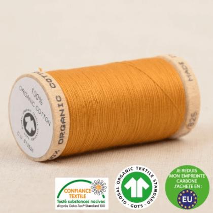 Fil à coudre Bio 100% coton - 275 m - Vieil Or