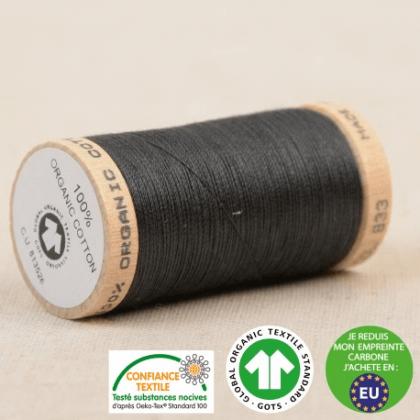 Fil à coudre Bio 100% coton - 275 m - Gris acier