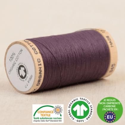 Fil à coudre Bio 100% coton - 275 m - Violet