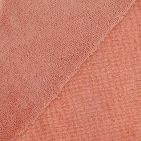 Tissu micro éponge de bambou Marsala - oeko tex