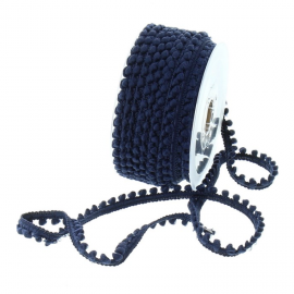 Galon mini pompons Bleu marine