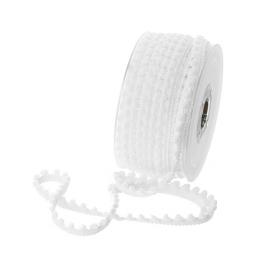 Galon mini pompons Blanc - au mètre