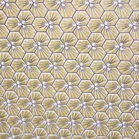 Tissu coton imprimé Riad or  - Oeko tex