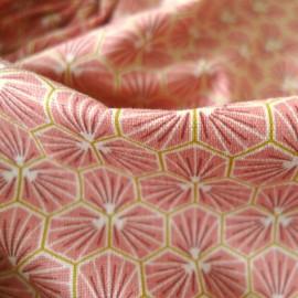 Tissu coton imprimé Riad Rose - Oeko tex