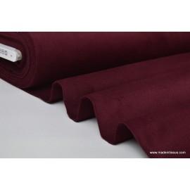 Tissu velours ras coton bordeaux pour confection pantalon x50cm