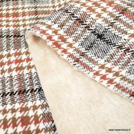 Tissu lainage facon Prince de Galle envers doudou