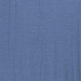 Tissu jean chambray lavé souple coloris Bleu