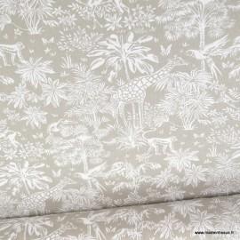 Tissu coton Gazelle fond Lin - Oeko tex