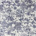 Tissu coton Gazelle fond Bleu - Oeko tex