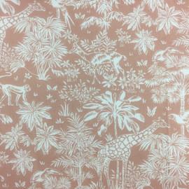 Tissu coton Gazelle fond Blush - Oeko tex