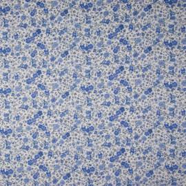 Tissu style Liberty Rosebelle Bleu - Oeko tex