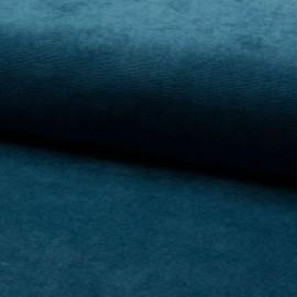 Tissu velours rasé côtelé coloris Pétrole - Oeko tex