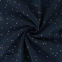 Tissu Double gaze coton Glitter à pois OR coloris Nuit