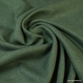 Tissu Viscose sergé habillement coloris Kaki