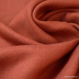 Tissu Viscose sergé habillement coloris Brique