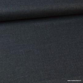 Tissu Viscose sergé habillement coloris Noir